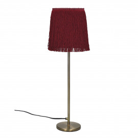 FROU' - lamp - iron / cotton - DIA 14 x H 47 cm - burgundy