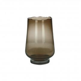 ELYZA - vase / photophore - verre - DIA 16 x H 24 cm - ambre