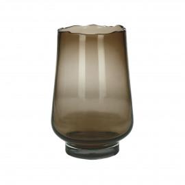 ELYZA - vase / photophore - verre - DIA 20 x H 30 cm - ambre