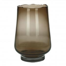 ELYZA - vase / photophore - verre - DIA 25 x H 36 cm - ambre