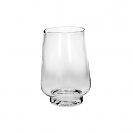 ELYZA - vase / photophore - verre - DIA 16 x H 24 cm - transparant