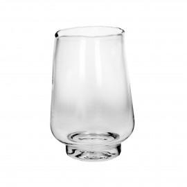 ELYZA - vase / photophore - verre - DIA 20 x H 30 cm - transparant