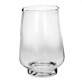 ELYZA - vase / photophore - verre - DIA 25 x H 36 cm - transparant