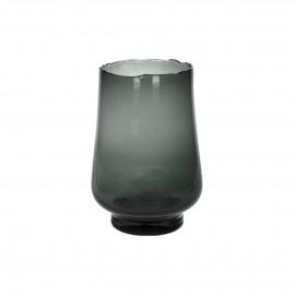 ELYZA - vase / photophore - verre - DIA 16 x H 24 cm - smoke