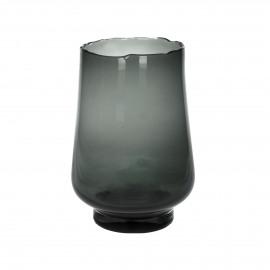 ELYZA - vase / photophore - verre - DIA 20 x H 30 cm - smoke