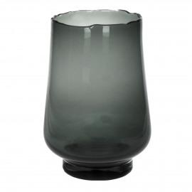 ELYZA - vase / photophore - verre - DIA 25 x H 36 cm - smoke