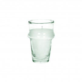 MITI - glass w/wax - glass / wax - DIA 6 x H 10,5 cm - clear
