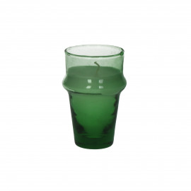 MITI - glass w/wax - glass / wax - DIA 6 x H 10,5 cm - green