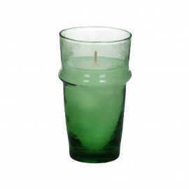 MITI - glass w/wax - glass / wax - DIA 7,4 x H 13 cm - green