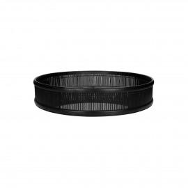 SHADOW - plateau/miroir - bambou / verre miroir - DIA 49,5 x H 10 cm - noir