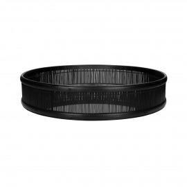 SHADOW - plateau/miroir - bambou / verre miroir - DIA 60 x H 10 cm - noir