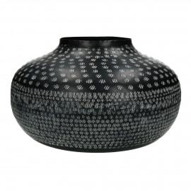 ZEBRA - vase - aluminium - DIA 38 x H 22 cm - black