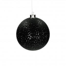 NORI - bulb w/light chain -  battery - glass - DIA 15 cm - black