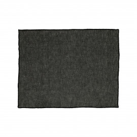 CHAMBRAY - set/4 placemats - linen / cotton - L 33 x W 48 cm - black