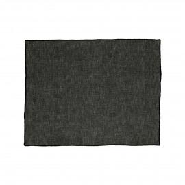 CHAMBRAY - set/4 placemats - linnen / katoen - L 33 x W 48 cm - zwart