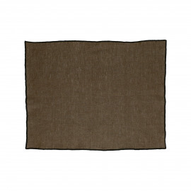 CHAMBRAY - set/4 placemats - linen / cotton - L 33 x W 48 cm - brown