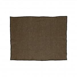CHAMBRAY - set/4 placemats - linnen / katoen - L 33 x W 48 cm - bruin