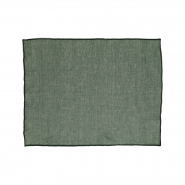 CHAMBRAY - set/4 placemats - linen / cotton - L 33 x W 48 cm - green