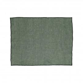 CHAMBRAY - set/4 placemats - linnen / katoen - L 33 x W 48 cm - groen