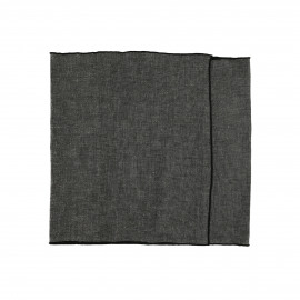 CHAMBRAY - set/2 table runners - linen / cotton - L 150 x H 40 cm - black