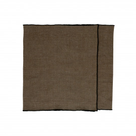 CHAMBRAY - set/2 sets de table - lin / coton - L 150 x H 40 cm - brun