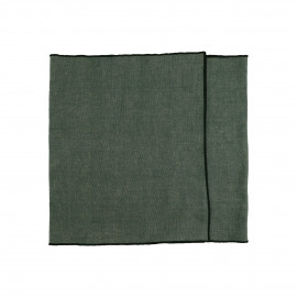 CHAMBRAY - set/2 table runners - linen / cotton - L 150 x H 40 cm - green