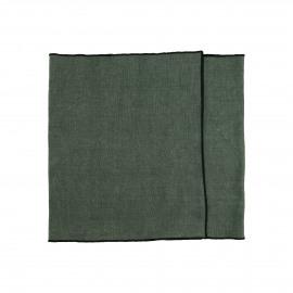 CHAMBRAY - set/2 sets de table - lin / coton - L 150 x H 40 cm - vert