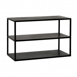 ESZENTIAL - coffee table/rack - metal - L 60 x W 30 x H 40 cm - black