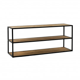 ESZENTIAL - coffee table/rack - wood - metal - L 90 x W 30 x H 40 cm - natural/black