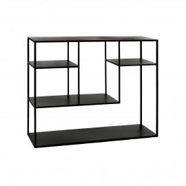 ESZENTIAL - rek - metaal - L 100 x W 30 x H 80 cm - zwart