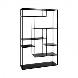 ESZENTIAL - étagère - métal - L 100 x W 30 x H 165 cm - noir