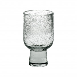 STÈLE - wine glass - glass - DIA 7,5 x H 13 cm  - clear