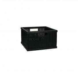 SHADOW - basket - bamboo - L 31 x  W 29,5 x H 18 cm - black