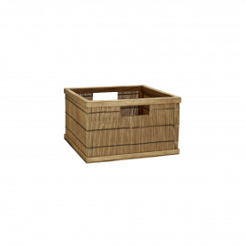 SHADOW - basket - bamboo - L 31 x  W 29,5 x H 18 cm - natural