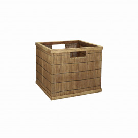 SHADOW - basket - bamboo - L 31 x  W 29,5 x H 27,5 cm - natural