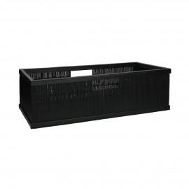 SHADOW - basket - bamboo - L 56 x  W 29,5 x H 17 cm - black