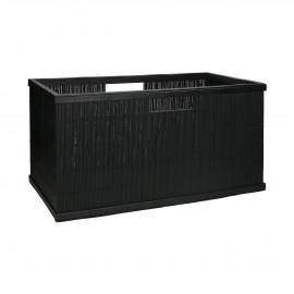 SHADOW - panier - bambou - L 56 x  W 29,5 x H 28 cm - noir