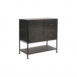 TYPOGRAPHIC - cabinet 4 drawers - iron - L 78 x W 43 x H 80,5 cm - black