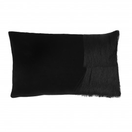 FROU' - cushion - velvet - L 50 x W 30 cm - black