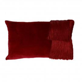FROU' - cushion - velvet - L 50 x W 30 cm - burgundy
