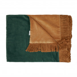 NICOLA - throw - velvet - L 170 x W 130 cm - green
