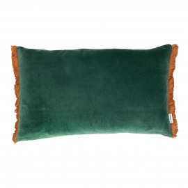 NICOLA - cushion - velvet - L 50 x W 30 cm - green