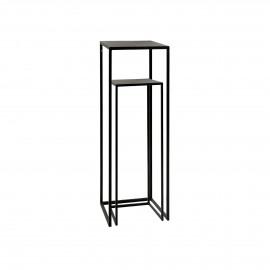 ESZENTIAL - set/2 consoles - metal - L 26/30 x W 26/30 x H 60/80 cm - black