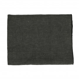 CHAMBRAY - tablecloth - linen / cotton - L 250 x W 150 cm - black