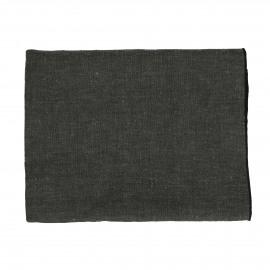 CHAMBRAY - tafelkleed - linnen / katoen - L 250 x W 150 cm - zwart