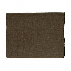 CHAMBRAY - nappe - lin / coton - L 250 x W 150 cm - brun