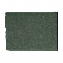 CHAMBRAY - tablecloth - linen / cotton - L 250 x W 150 cm - green
