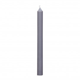 kaars - paraffine wax - H 25 cm - lichtgrijs