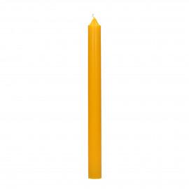 CANDLE - Bougie Q201 - cire de paraffine - H 25 cm - safran
