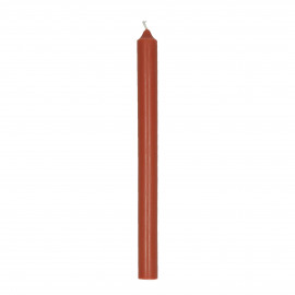 CANDLE - candle - paraffin wax - H 25 cm - terracotta